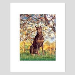 Spring / Doberman Small Poster
