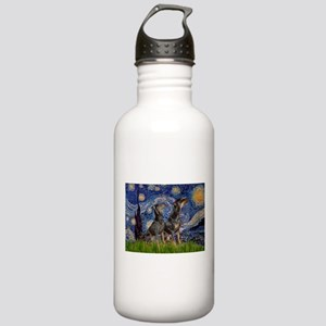Starry Night / 2 Dobies Stainless Water Bottle 1.0