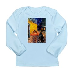 Cafe & Doberman Long Sleeve Infant T-Shirt