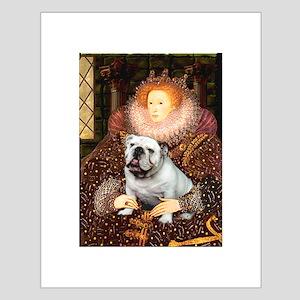 The Queen's English BUlldog Small Poster