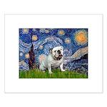 Starry Night English Bulldog Small Poster