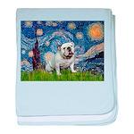 Starry Night English Bulldog baby blanket