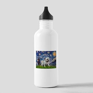 Starry Night English Bulldog Stainless Water Bottl