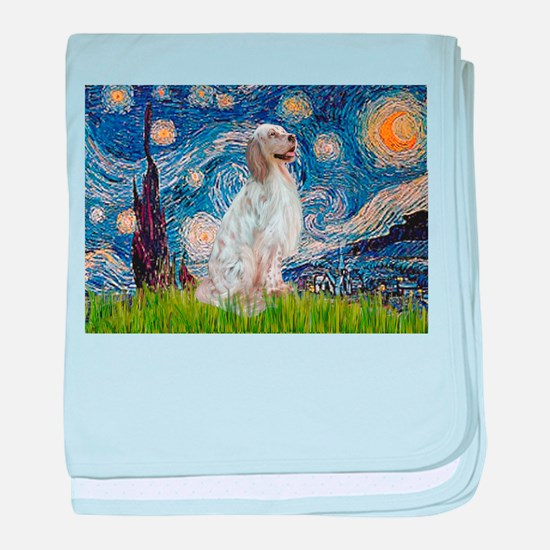 English Setter / Starry Night baby blanket