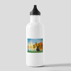 Sailboats / Flat Coated Retri Stainless Water Bott
