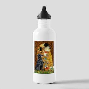 Kiss / Flat Coated Retriever Stainless Water Bottl
