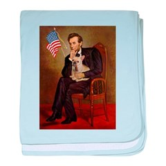 Lincoln/French Bulldog baby blanket