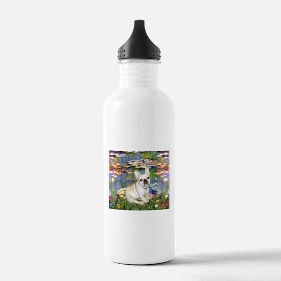 Lilies / Fr Bulldog (f) Water Bottle