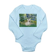 Bridge / Fr Bulldog (f) Long Sleeve Infant Bodysui