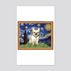 Starry/French Bulldog Mini Poster Print