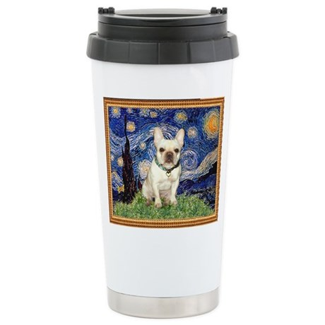 Starry/French Bulldog Stainless Steel Travel Mug