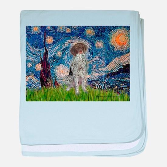 Starry Night /German Short baby blanket