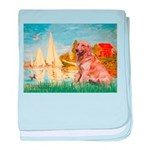 Sailboats (#2) & Golden baby blanket