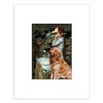 Ophelia & Golden Retriever Small Poster