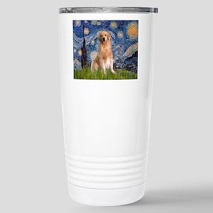 Starry Night / Golden Stainless Steel Travel Mug