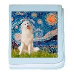 Starry Night / Pyrenees baby blanket