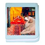 Cafe / Great Pyrenees baby blanket