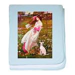 Windflowers / Ital Greyhound baby blanket