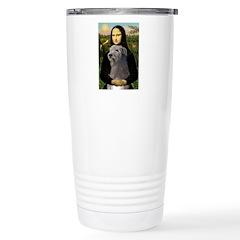 Mona / Irish Wolf Stainless Steel Travel Mug