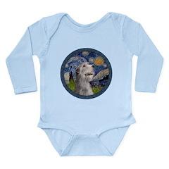 Starry Irish Wolfhound Long Sleeve Infant Bodysuit