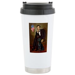 Lincoln & his Black Lab Stainless Steel Travel Mug