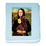 Mona & her Chocolate Lab baby blanket