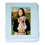 Mona Lisa / Lab (y) baby blanket