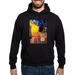 Cafe / Lhasa Apso #9 Hoodie (dark)