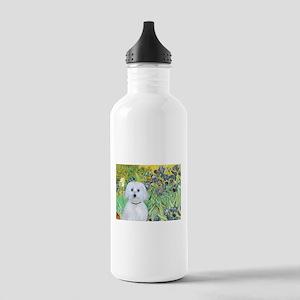 Irises / Maltaese (B) Stainless Water Bottle 1.0L