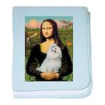 Mona Lisa / Maltese baby blanket