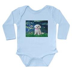 Lilies / Maltese Long Sleeve Infant Bodysuit