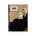 Whistler's Mother Maltese Mini Poster Print