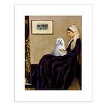 Whistler's Mother Maltese Small Poster