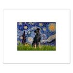 Starry / Min Pinscher Small Poster