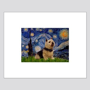 Starry /Norwich Terrier Small Poster