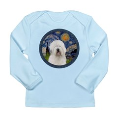 Starry Old English (#3) Long Sleeve Infant T-Shirt