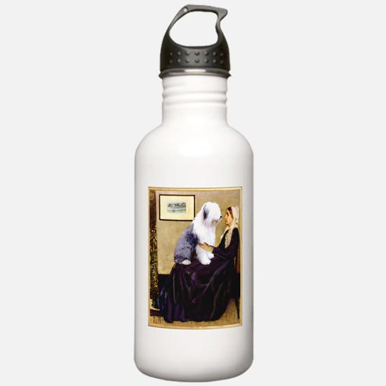 Mom's Old English Sheepdog Water Bottle