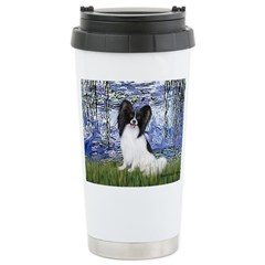 Lilies (#6) & Papillon Stainless Steel Travel Mug