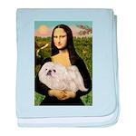 Mona /Pekingese (w) baby blanket