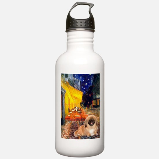 Cafe /Pekingese (r) Water Bottle