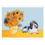 Sunflowers/PBGV Small Poster