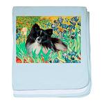 Irises / Pomeranian(bb) baby blanket