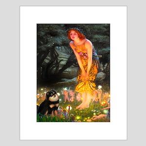 Fairies / Pomeranian (b&t) Small Poster
