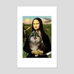 Mona and her Parti Pom Mini Poster Print