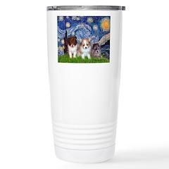 Starry Night /Pomeranian pups Stainless Steel Trav