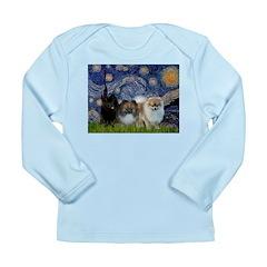 Starry/3 Pomeranians Long Sleeve Infant T-Shirt