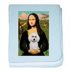 Mona Lisa / Poodle(w) baby blanket