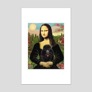 Mona / Poodle (bl) Mini Poster Print