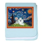 Starry Night / Poodle(w) baby blanket