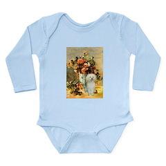 Vase / Poodle (White) Long Sleeve Infant Bodysuit